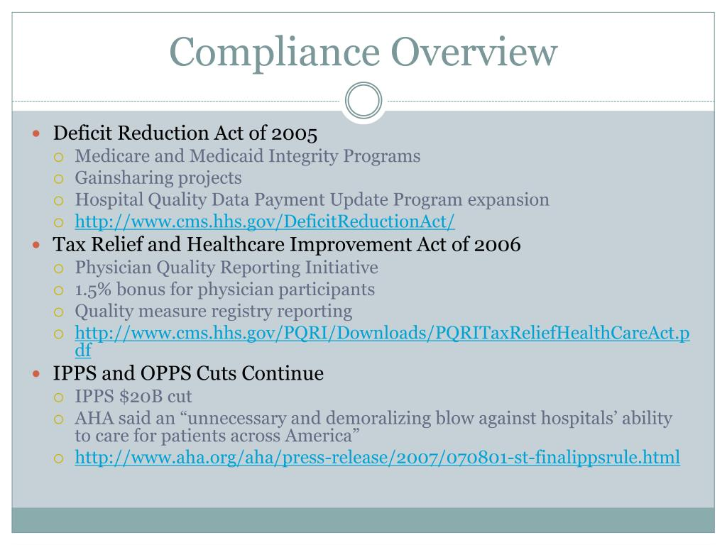 Compliance Overview