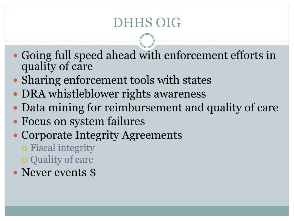 DHHS OIG