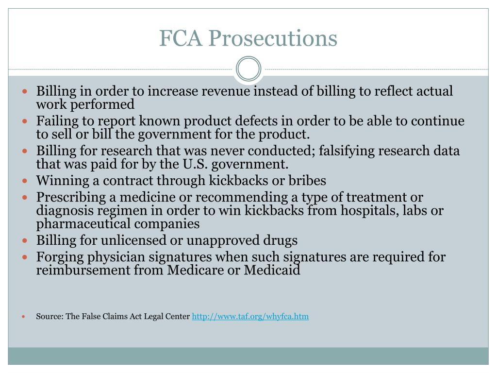 FCA Prosecutions