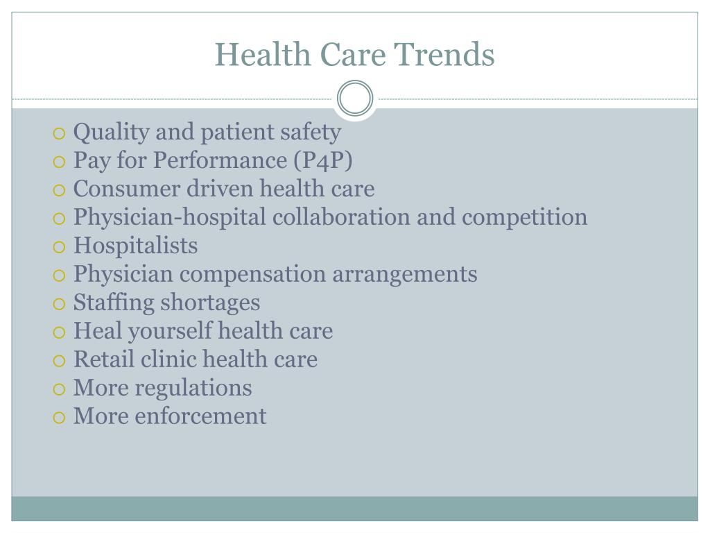 Health Care Trends