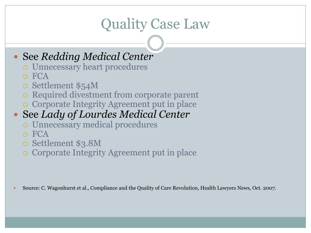 Quality Case Law