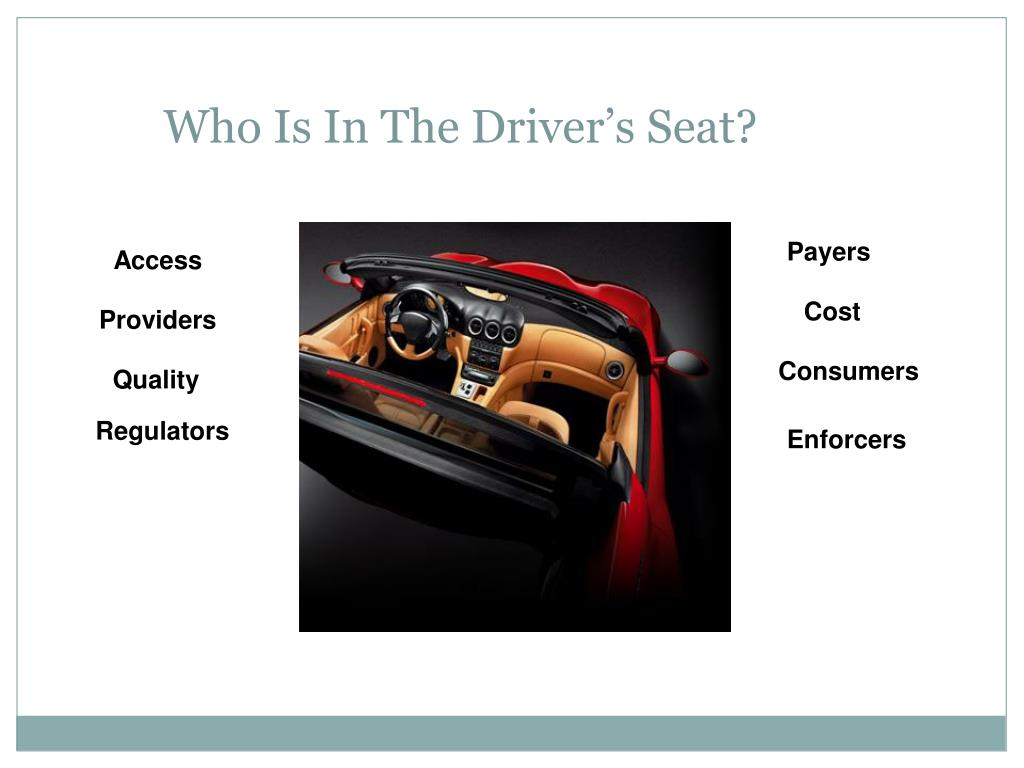 Who Is In The Driver's Seat?