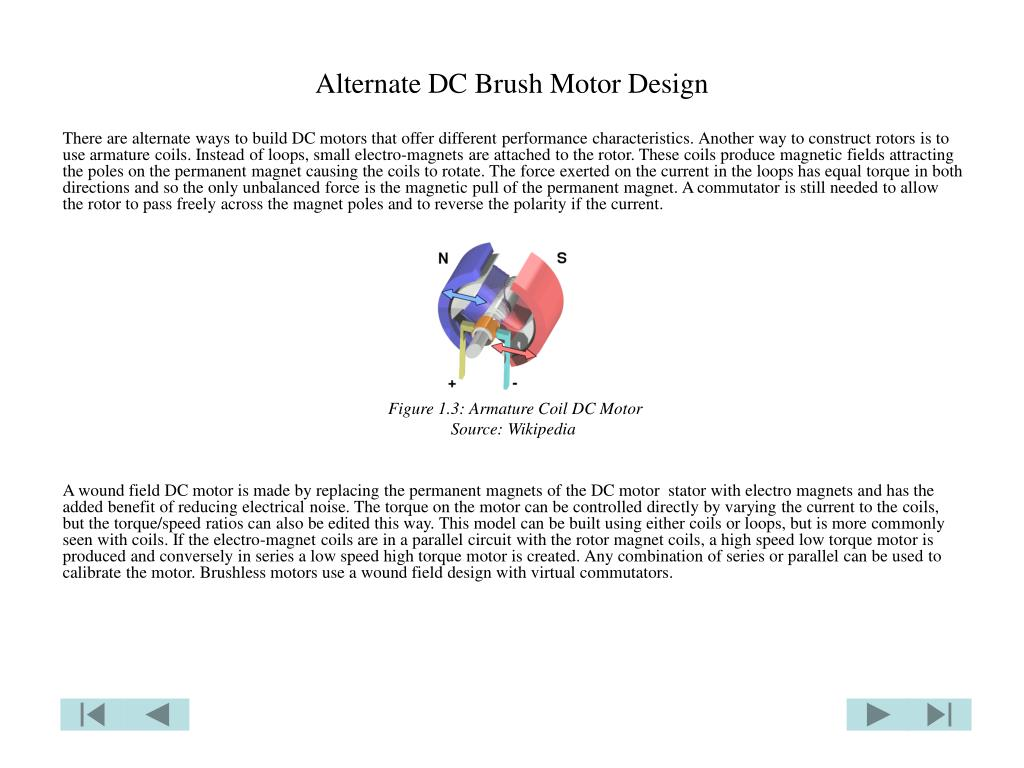 Alternate DC Brush Motor Design