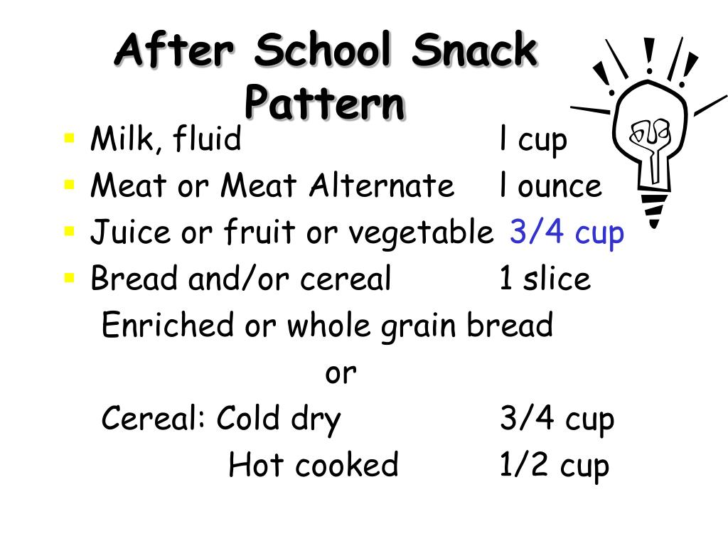 After School Snack Pattern