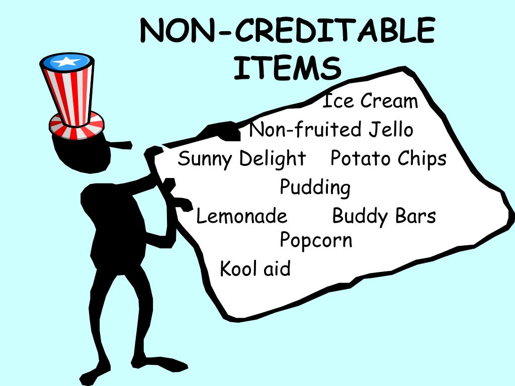 NON-CREDITABLE ITEMS
