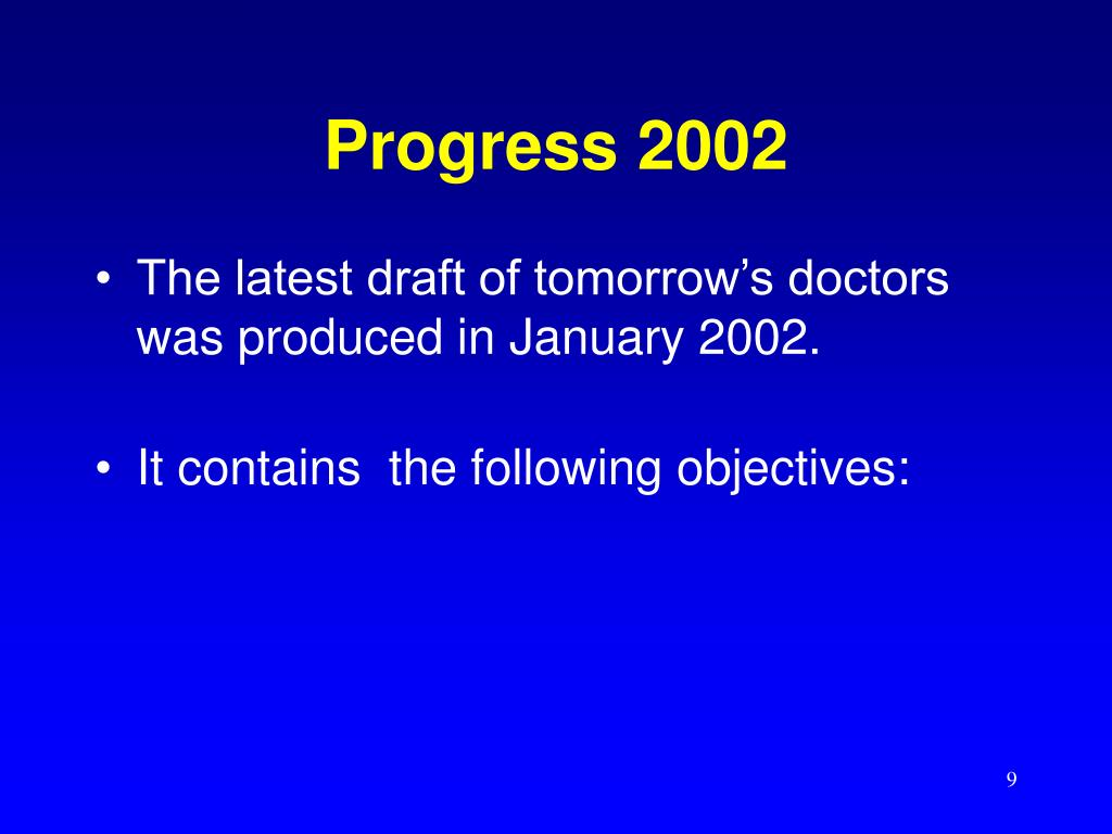 Progress 2002
