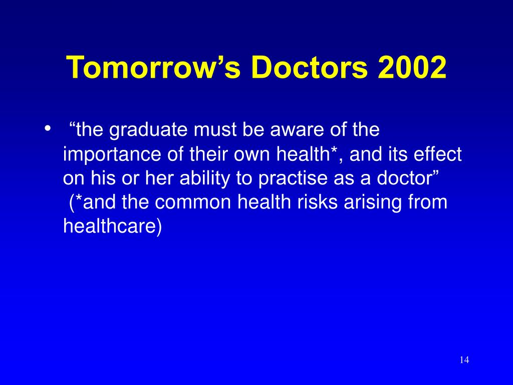 Tomorrow's Doctors 2002