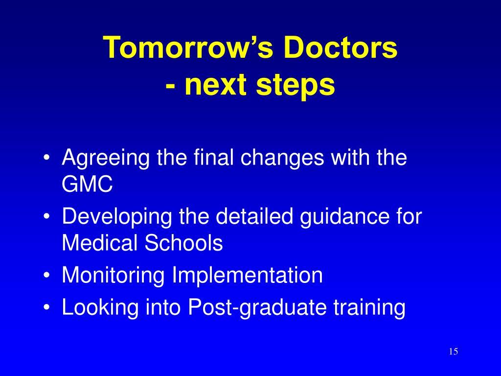 Tomorrow's Doctors