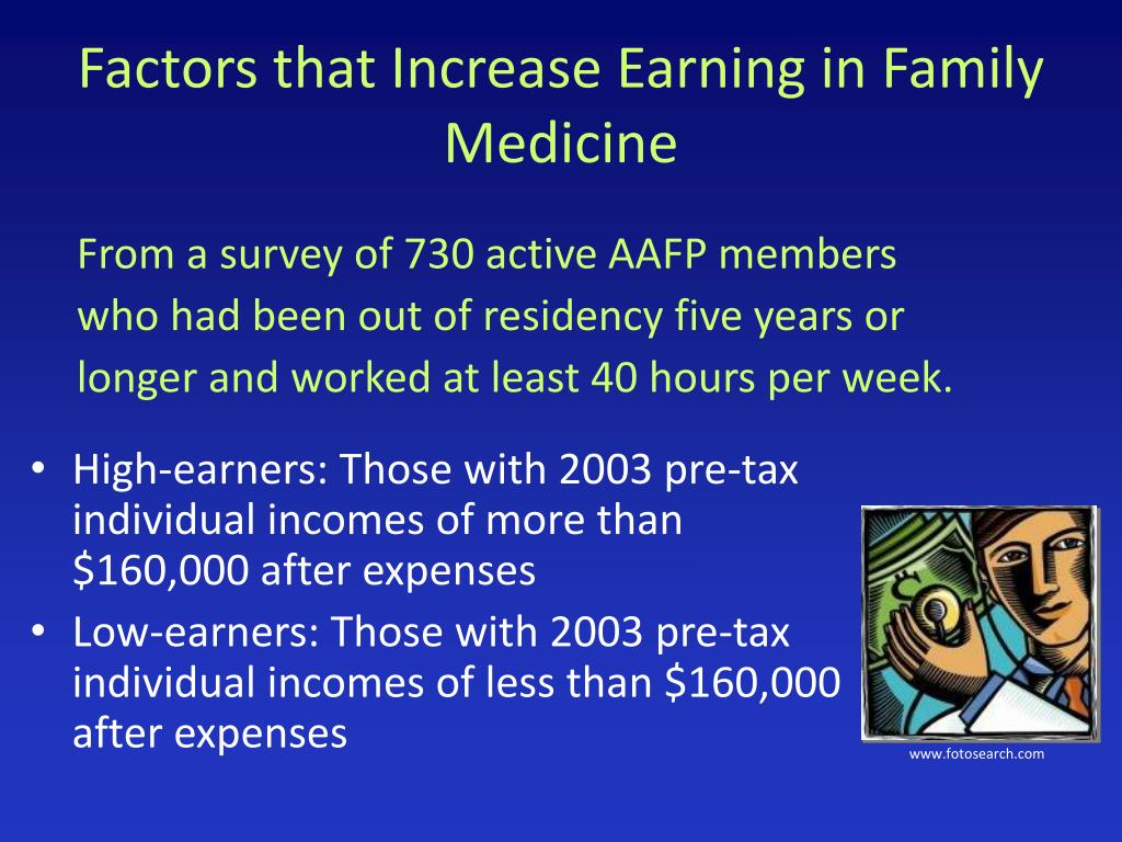 Factors that Increase Earning in Family Medicine