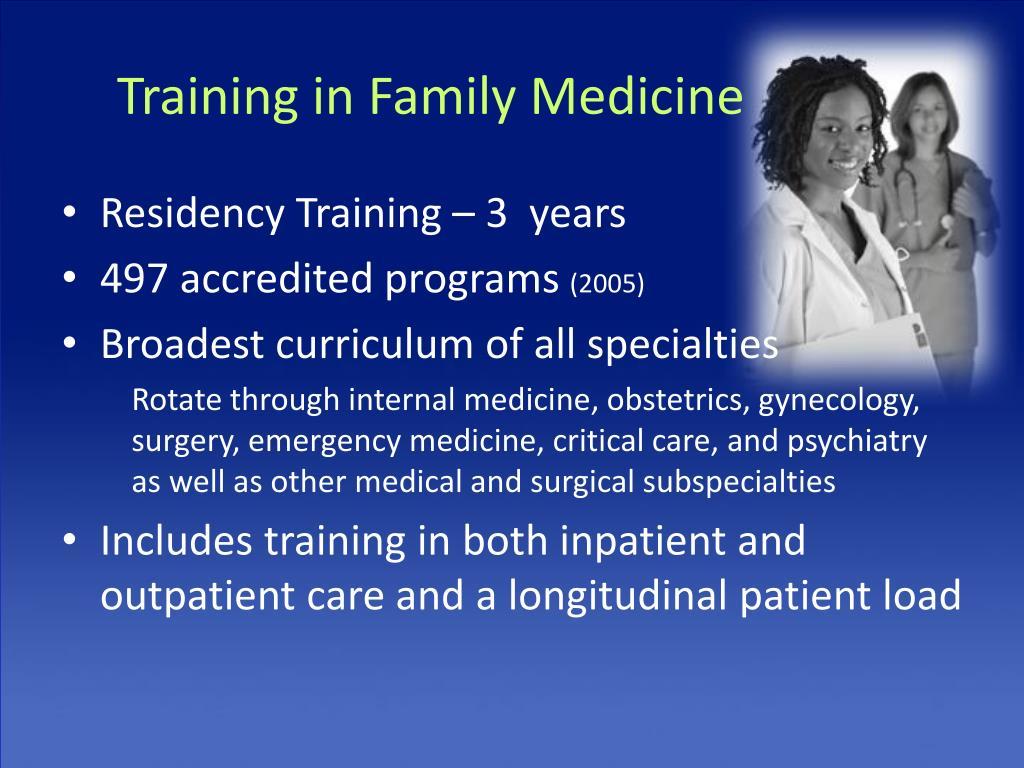 Training in Family Medicine
