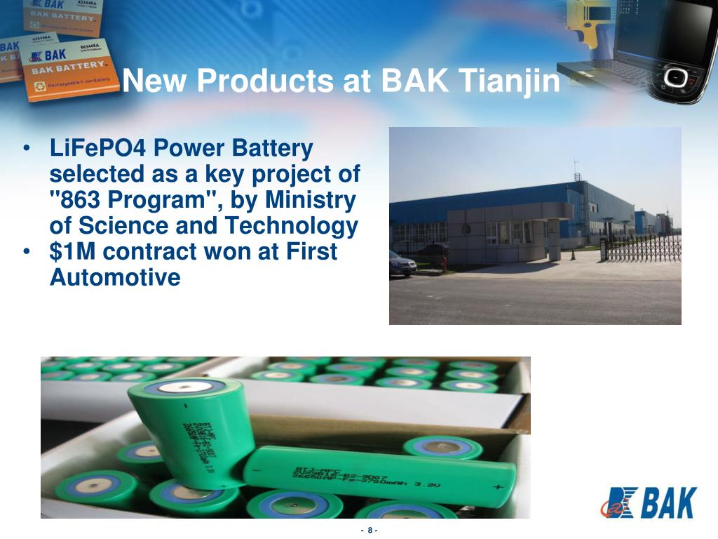New Products at BAK Tianjin