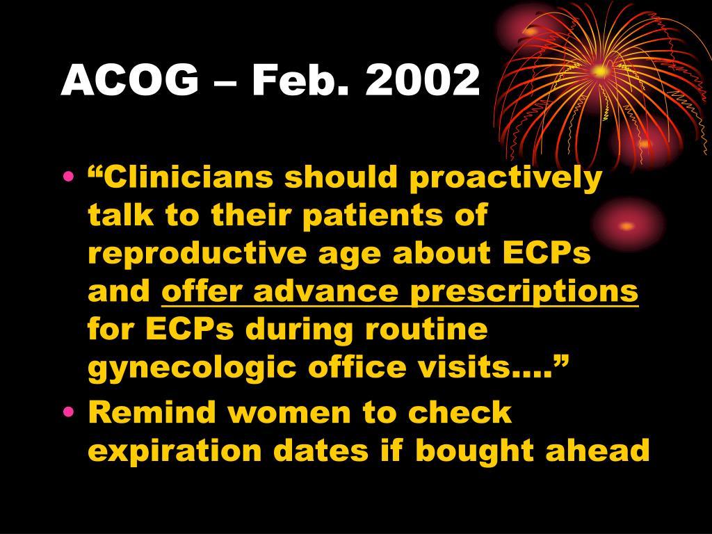 ACOG – Feb. 2002