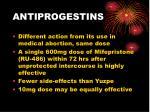 antiprogestins