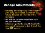 dosage adjustments29