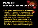 plan b mechanism of action
