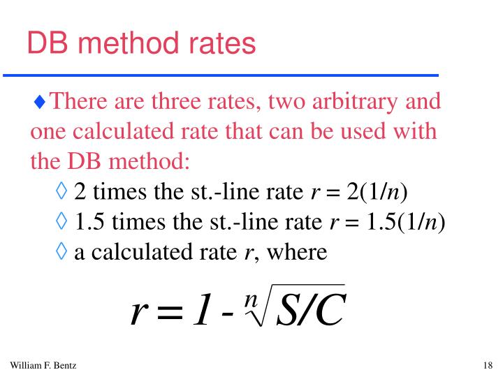 DB method rates