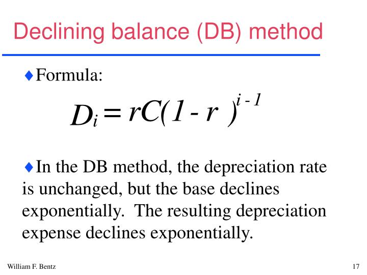 Declining balance (DB) method