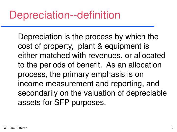 Depreciation--definition