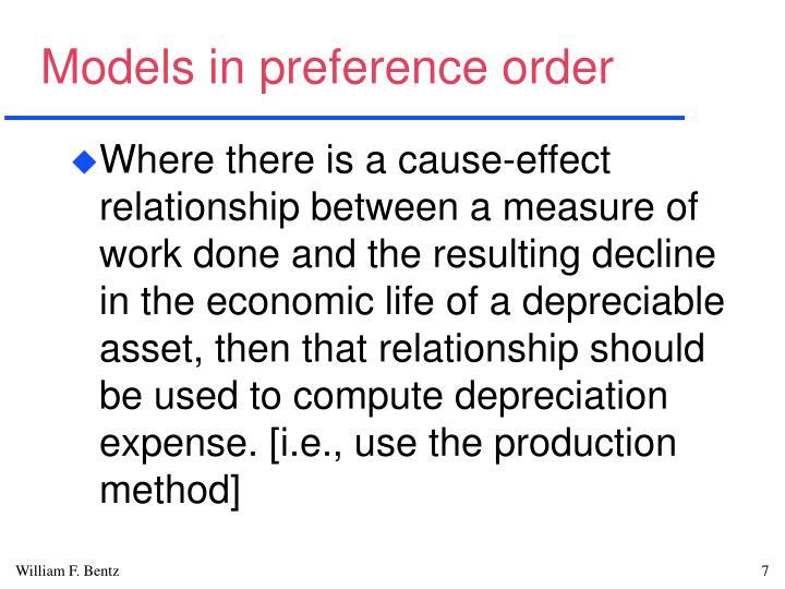 Models in preference order