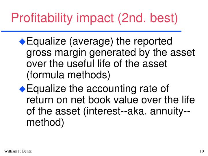 Profitability impact (2nd. best)