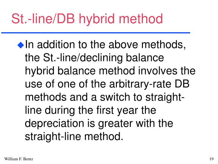 St.-line/DB hybrid method