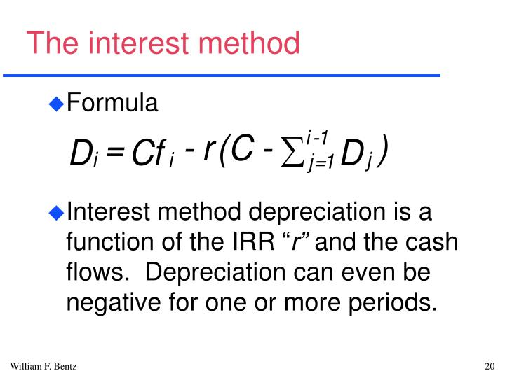 The interest method