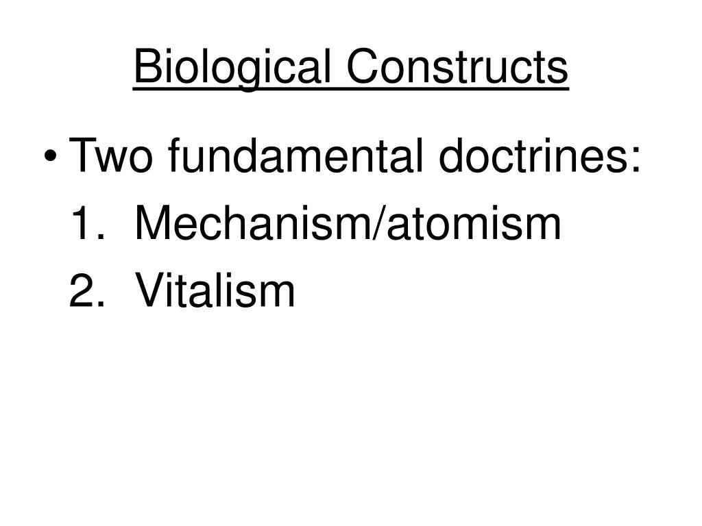 Biological Constructs