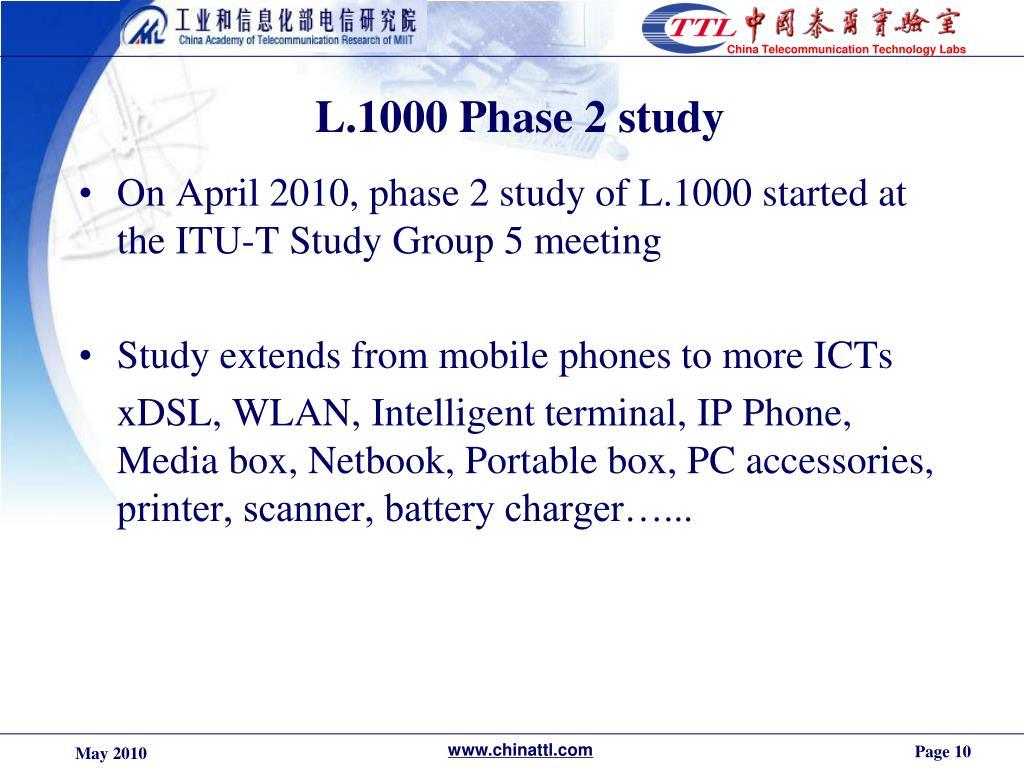 L.1000 Phase 2 study