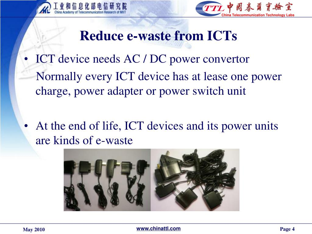 Reduce e-waste from ICTs