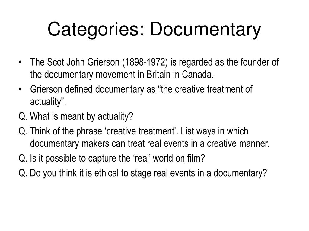 Categories: Documentary