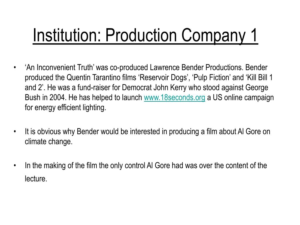 Institution: Production Company 1