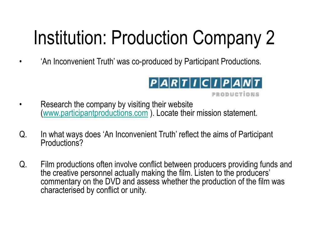 Institution: Production Company 2