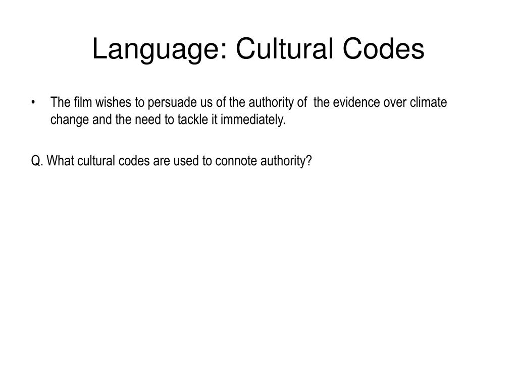 Language: Cultural Codes