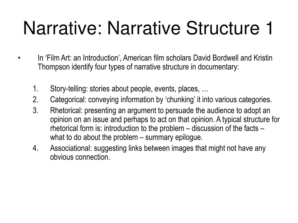 Narrative: Narrative Structure 1