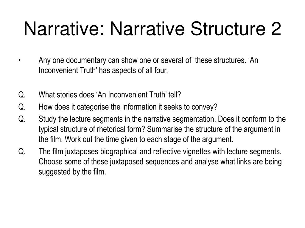 Narrative: Narrative Structure 2