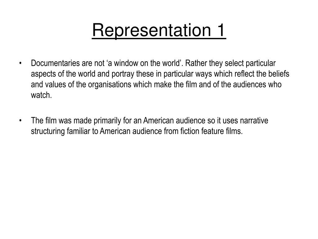 Representation 1