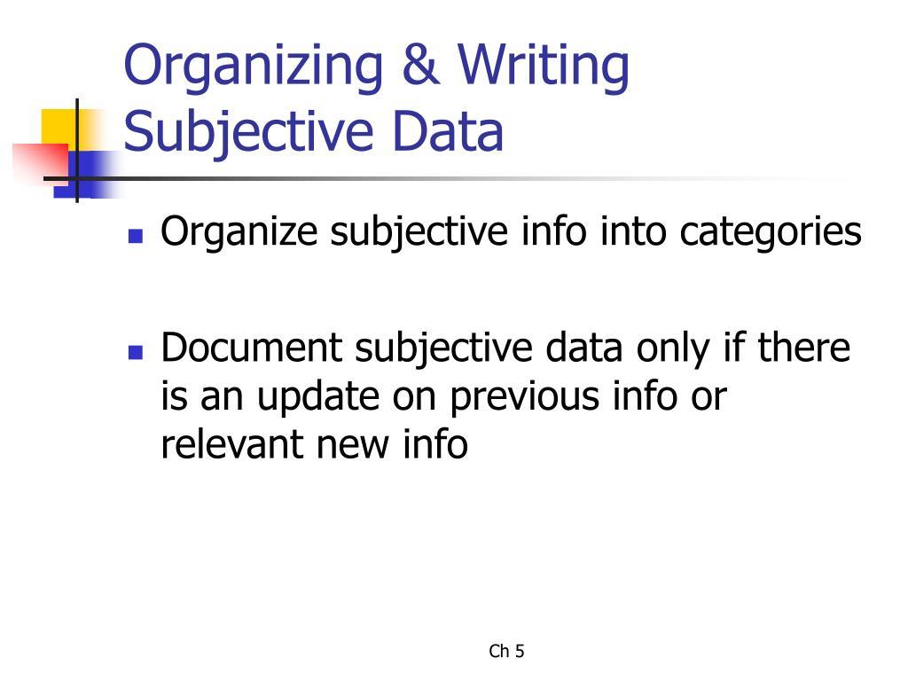 Organizing & Writing
