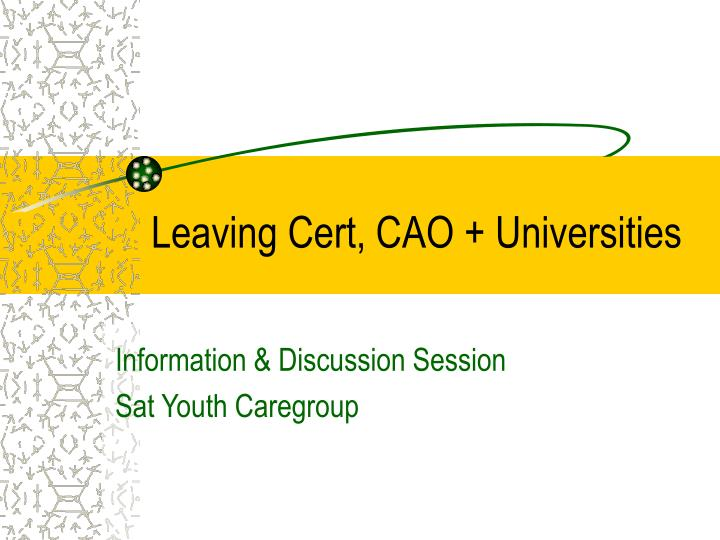 Leaving cert cao universities