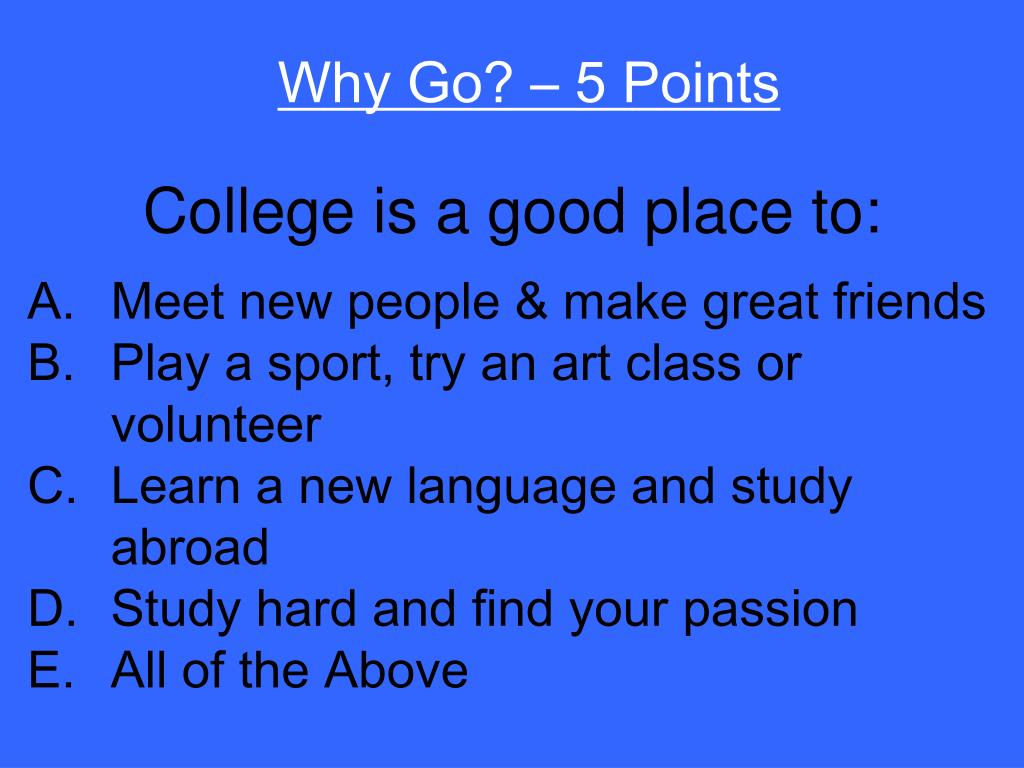 Why Go? – 5 Points