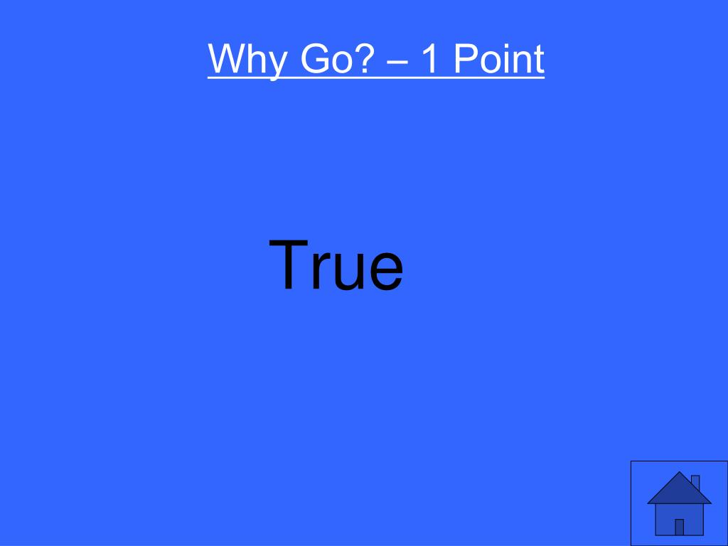 Why Go? – 1 Point