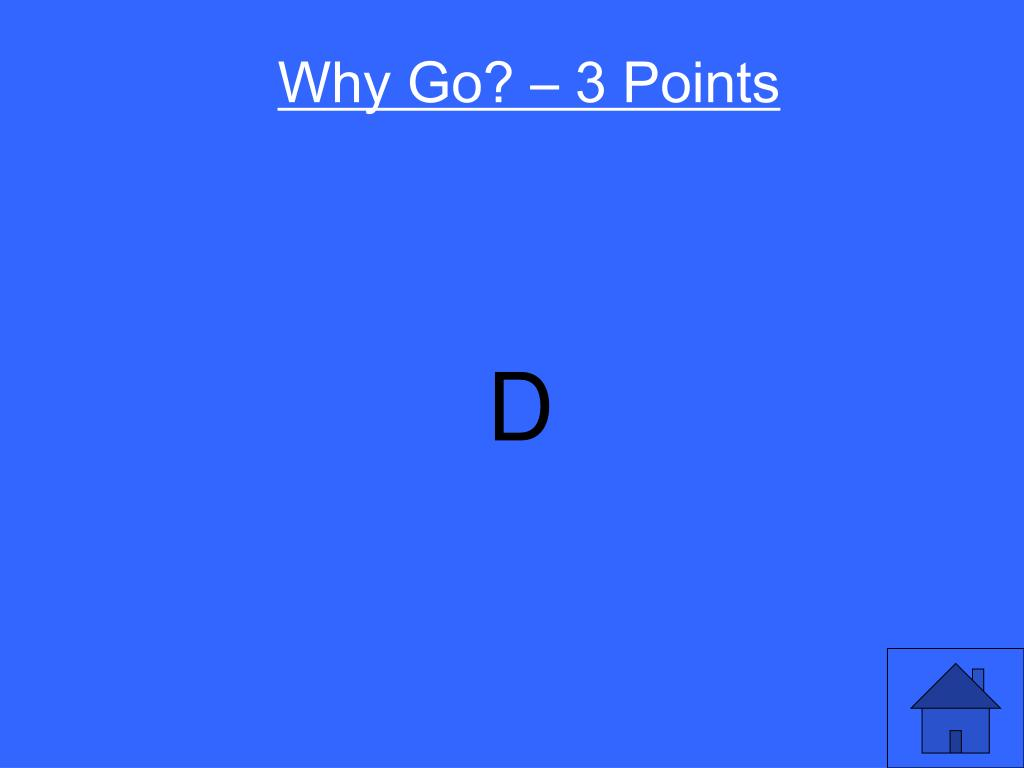 Why Go? – 3 Points