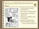 mexican wolf reintroduction sites