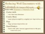 reducing wolf encounters with lifestock m jimenez phd work