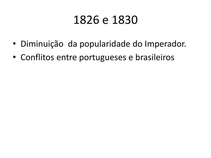 1826 e 1830