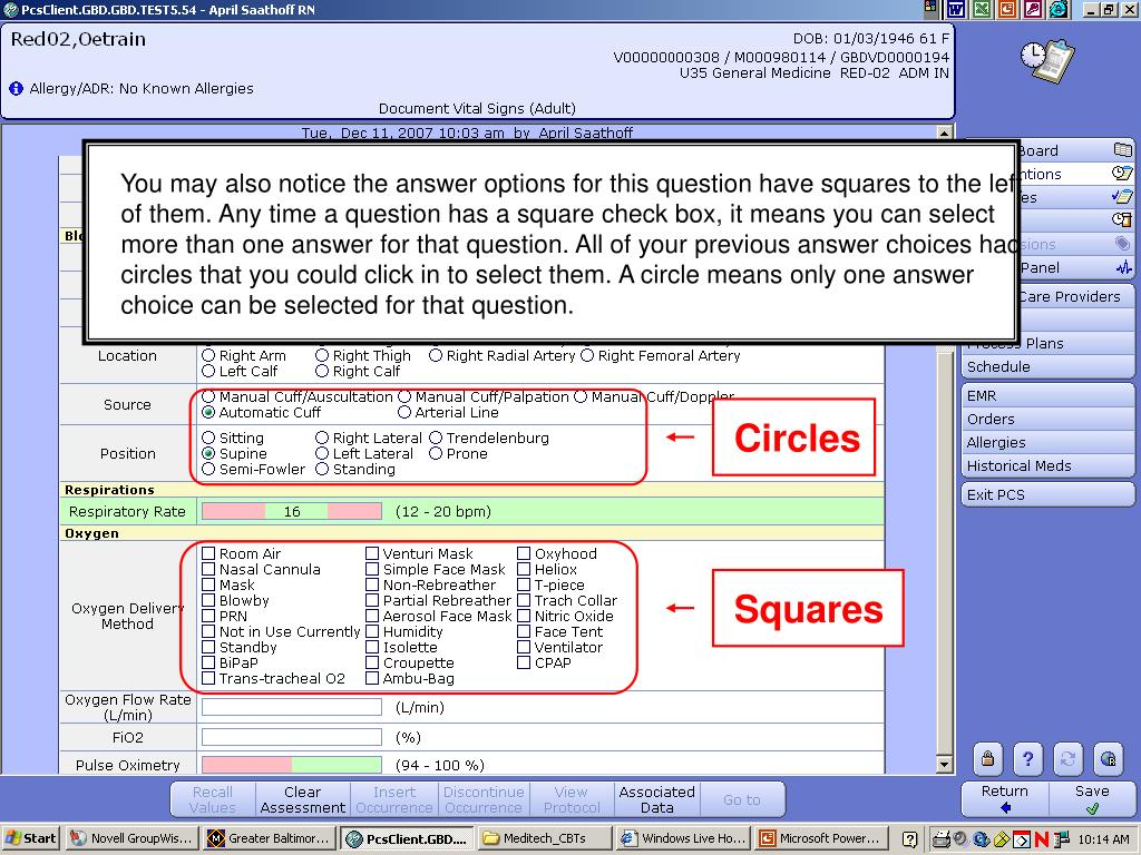 You may also notice the answer options for this question have squares to the left of them. Any time a question has a square check box, it means you can select more than one answer for that question. All of your previous answer choices had circles that you could click in to select them. A circle means only one answer choice can be selected for that question.