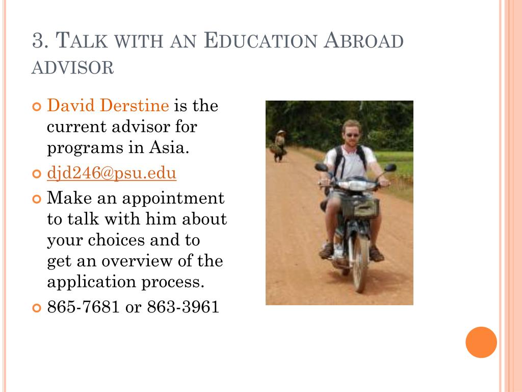 3. Talk with an Education Abroad advisor