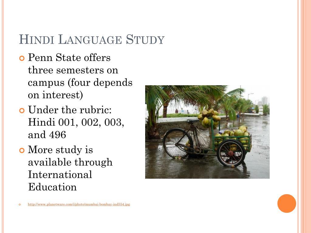 Hindi Language Study