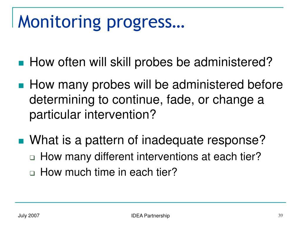 Monitoring progress…