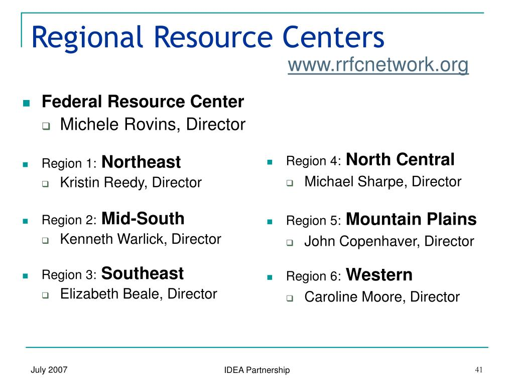 Federal Resource Center