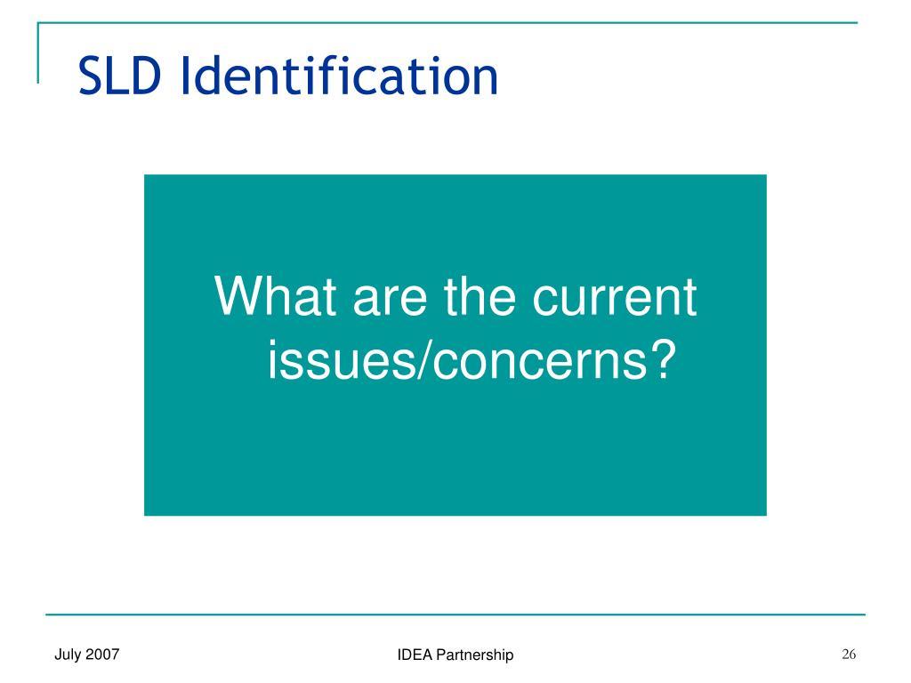 SLD Identification